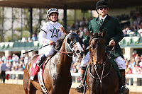 LEXINGTON, KY - April 14, 2017.  #3 American Patriot and Javier Castellano win the 29th running of The Maker's 46 Mile Grade 1 $300,000 for owner Winstar farm and trainer Todd Pletcher at Keeneland Race Course.  Lexington, Kentucky. (Photo by Candice Chavez/Eclipse Sportswire/Getty Images)