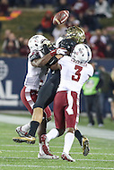 Annapolis, MD - December 27, 2016: Temple Owls defensive back Sean Chandler (3) breaks up a pass during game between Temple and Wake Forest at  Navy-Marine Corps Memorial Stadium in Annapolis, MD.   (Photo by Elliott Brown/Media Images International)