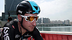 Elia Viviani (ITA) Team Sky at sign on before the start of Stage 2 the Nation Towers Stage of the 2017 Abu Dhabi Tour, running 153km around the city of Abu Dhabi, Abu Dhabi. 24th February 2017<br />