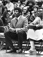 Golden State Warrior coach Al Attles, and Cazzie Russell on bench (1971 photo/Ron Riesterer)