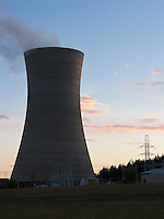 Wairakei geothermal power station-cooling tower-natural energy produced by high pressure underground steam-located 10 km from Taupo-New Zealand