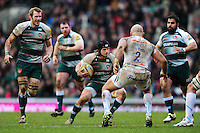 Harry Thacker of Leicester Tigers in possession. Aviva Premiership match, between Leicester Tigers and Exeter Chiefs on March 6, 2016 at Welford Road in Leicester, England. Photo by: Patrick Khachfe / JMP