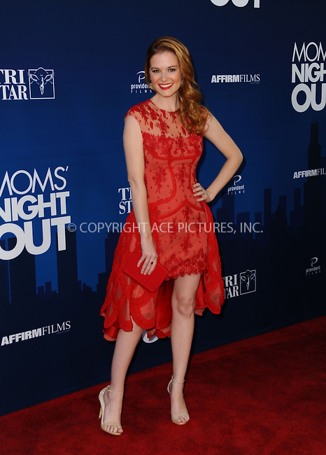 WWW.ACEPIXS.COM<br /> <br /> April 29 2014, LA<br /> <br /> Actress Sarah Drew attending the 'Mom's Night Out' Los Angeles premiere at the TCL Chinese Theatre IMAX on April 29, 2014 in Hollywood, California<br /> <br /> By Line: Peter West/ACE Pictures<br /> <br /> <br /> ACE Pictures, Inc.<br /> tel: 646 769 0430<br /> Email: info@acepixs.com<br /> www.acepixs.com