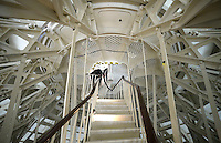Interior supports between the newly-restored exterior Capitol Dome and the interior dome are seen at the US Capitol in Washington, DC, November 15, 2016. <br /> Credit: Olivier Douliery / Pool via CNP /MediaPunch
