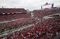 Ohio State Buckeye fans against Michigan Wolverines at Ohio Stadium on November 24, 2012.  (Columbus Dispatch photo by Brooke LaValley)