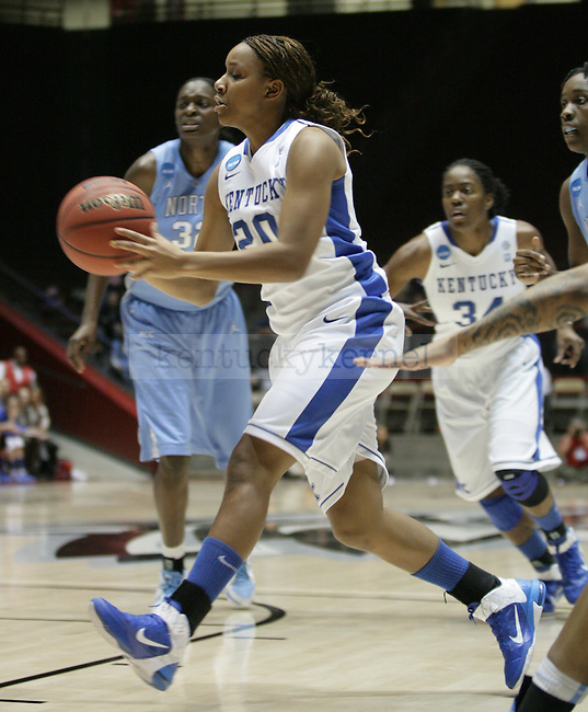 UK Hoops' freshman guard Maegan Conwright passes the ball in the first half of UK Hoops' second round NCAA game against UNC in The Pit in Albuquerque, New Mexico, 3/21/11. Photo by Brandon Goodwin   Staff.