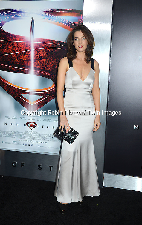 Ayelet Zurer attends the World Premiere of &quot;Man of Steel&quot; on June 10, 2013 at Alice Tully Hall in New York. The movie stars <br /> Henry Cavill, Amy Adams, Michael Shannon, Kevin Costner, Laurence Fishburne, Anje Traue, Ayelet Zurer, Christopher Meloni, Russell Crowe, Dylan Sprayberry, Michael Kelly,  Cooper Timberline, Christina Wren and Rebecca Buller.
