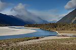Arawhata River. Westland Region. New Zealand.