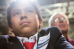 Audience members listen as Vice President Joe Biden speaks at a campaign rally at the Port of Burlington during a two-day campaign swing through Iowa on Monday, September 17, 2012 in Burlington, IA.