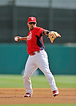 8 March 2012: St. Louis Cardinals' infielder Rafael Furcal warms up prior to a Spring Training game against the Boston Red Sox at Roger Dean Stadium in Jupiter, Florida. The Cardinals defeated the Red Sox 9-3 in Grapefruit League action. Mandatory Credit: Ed Wolfstein Photo