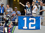 Seattle Seahawks' in a pre-season game against the Tennessee Titans at CenturyLink Field in Seattle, Washington on August 11, 2012. ©2012. Jim Bryant Photo. All Rights Reserved...
