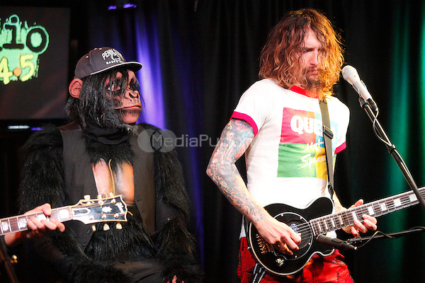 PHILADELPHIA, PA - AUGUST 2: The Darkness visit Radio 104.5's iheart Radio Performance Theater in Bala Cynwyd, Pa on August 2, 2012  © Star Shooter / MediaPunch Inc.