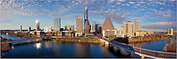 This Austin Panorama was taken from the Hyatt Austin. Looking across Ladybird Lake, you can see the Congress Bridge and First Street Bridge, long with many highrises in downtown Austin, including the Austonian, the 360 Condos, and the Springs Condos.