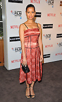Gugu Mbatha-Raw at the 60th BFI London Film Festival &quot;Black Mirror&quot; pre-reception red carpet photocall, BlueBird Cafe, Kking's Road, London, England, UK, on Thursday 06 October 2016.<br /> CAP/CAN<br /> &copy;CAN/Capital Pictures /MediaPunch ***NORTH AND SOUTH AMERICAS ONLY***