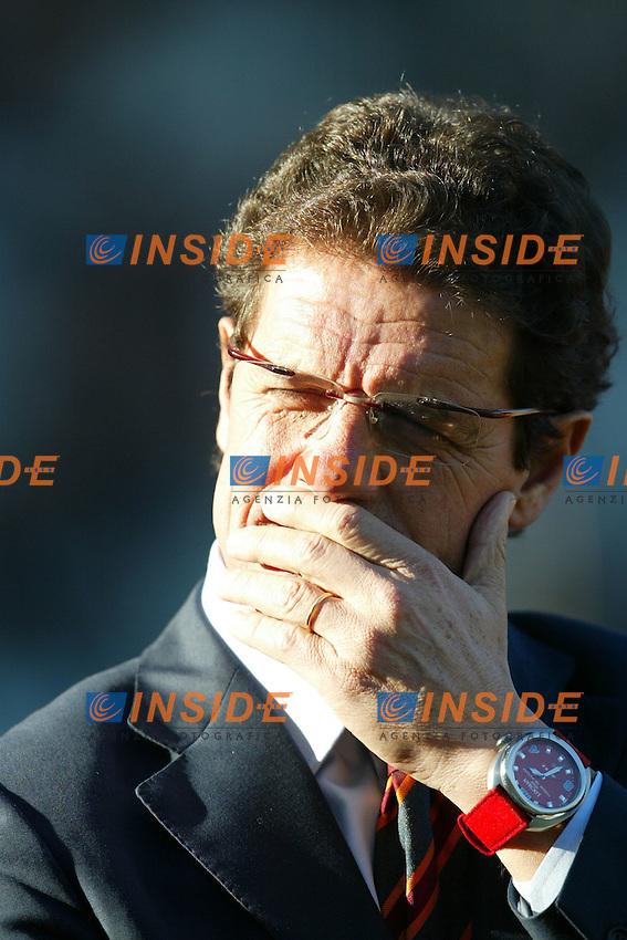 Roma 30/11/2003 <br /> Roma Lecce 3-1<br /> Fabio Capello (Roma)<br /> Foto Andrea Staccioli Insidefoto