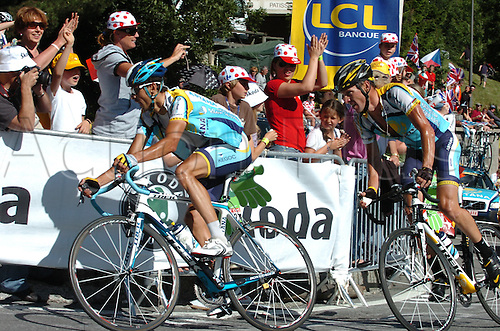 2009, Tour de France, tappa 15 Pontarlier - Verbier, Astana, Armstrong Lance, Kloden Andreas, Verbier July 19th 2009.  Stage 15 Pontarlier to Verb (Photo: Stefano Sirotti/ActionPlus)
