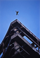 &quot;Sabi&aacute;&quot; Base jumping off a building in S&atilde;o Paulo, Brazil