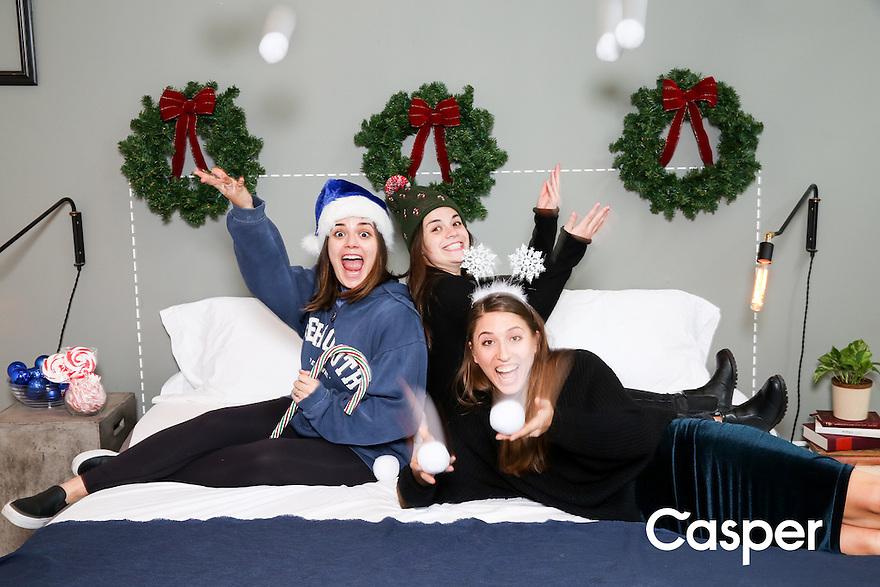 casper holiday booth @ nyc showroom