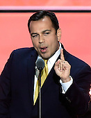 State Senator Ralph Alvarado, Jr. makes remarks at the 2016 Republican National Convention held at the Quicken Loans Arena in Cleveland, Ohio on Wednesday, July 20, 2016.<br /> Credit: Ron Sachs / CNP<br /> (RESTRICTION: NO New York or New Jersey Newspapers or newspapers within a 75 mile radius of New York City)