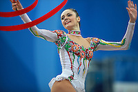 Anna Bessonova of Ukraine performs with ribbon at 2009 Pesaro World Cup on May 2, 2009 at Pesaro, Italy.  Photo by Tom Theobald.