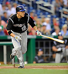 15 August 2008: Colorado Rockies' shortstop Clint Barmes in action against the Washington Nationals at Nationals Park in Washington, DC.  The Rockies edged out the Nationals 4-3, handing the last place Nationals their 8th consecutive loss. ..Mandatory Photo Credit: Ed Wolfstein Photo