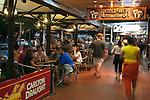 Restaurants and bars on the Esplanade.  Cairns, Queensland, Australia