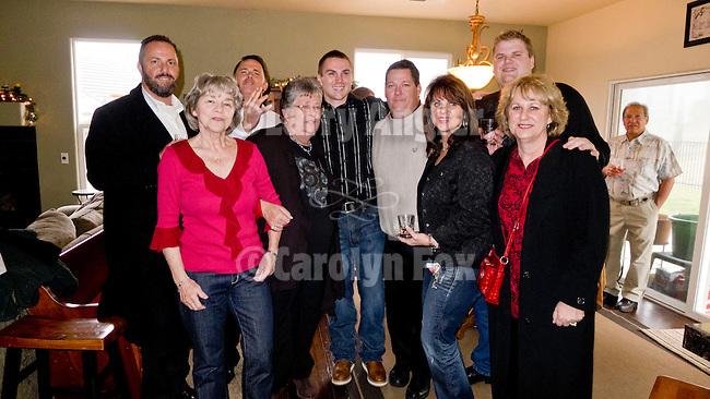 Friends and family gather to celebrate Serbian Christmas at the Lucke home during Jackson, California, celebration on January 7.