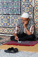 Tripoli, Libya - Man Praying, Using Prayer Beads, Karamanli Mosque, Tripoli Medina