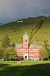 Main Hall on University of Montana campus in Missoula, Montana