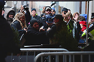 Washington, DC - January 20, 2017: Protestors and Trump supporters clash as protestors block people from walking to the security checkpoint near 10th and E street, NW during the inauguration of Donald J. Trump as the 45th President of the United States, January 20, 2017.  (Photo by Don Baxter/Media Images International)