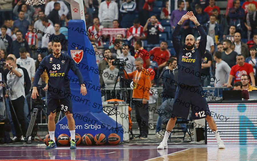 Nikola Kalinic Pero Antic Euroleague basketball game between Crvena Zvezda and Fenerbahce on Novembar 6. 2015 Beograd, Srbija, 6.11.2015.  (credit image & photo: Pedja Milosavljevic / STARSPORT)