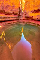 Slot canyon interior, Jebel Acacus, LIbya, Mountains in Sahara Desert UNESCO World Heritage Site