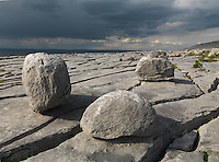 Ireland, Western coast, Burren region, Karst limestone landscape