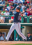 11 March 2016: Atlanta Braves infielder Kelly Johnson in action during a Spring Training pre-season game against the Philadelphia Phillies at Champion Stadium in the ESPN Wide World of Sports Complex in Kissimmee, Florida. The Phillies defeated the Braves 9-2 in Grapefruit League play. Mandatory Credit: Ed Wolfstein Photo *** RAW (NEF) Image File Available ***