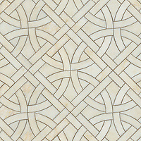 Gran Via, a natural stone waterjet mosaic shown in Cloud Nine polished, is part of the Miraflores Collection by Paul Schatz for New Ravenna Mosaics.<br />