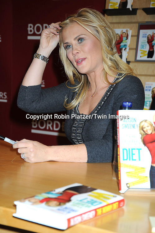 """Alison Sweeney at her book signing for .her book """"The Mommy Diet"""" on .January 4, 2011 at Border's in The Time Warner Center in New York City."""