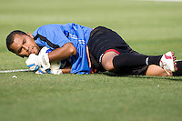 05 July 2009: Nicaragua goalkeeper Carlos Mendieta makes a save during the game against Mexico at Oakland-Alameda County Coliseum in Oakland, California.    Mexico defeated Nicaragua, 2-0.