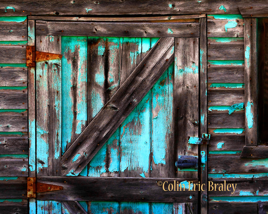 Turquoise painted barn weathered by time colin e braley for Barn wood for sale utah