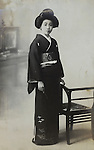 full length portrait of young female person Japan early 1930s
