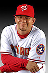 25 February 2007: Washington Nationals pitcher Saul Rivera poses for his Photo Day portrait at Space Coast Stadium in Viera, Florida.<br /> <br /> Mandatory Photo Credit: Ed Wolfstein Photo<br /> <br /> Note: This image is available in a RAW (NEF) File Format - contact Photographer.