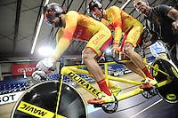Picture by Simon Wilkinson/SWpix.com - 05/03/2017 - Cycling 2017 UCI Para-Cycling Track World Championships, Velosports Centre, Los Angeles USA - Spain Ignacio AVILA RODRIGUEZ and Joan FONT BERTOLI
