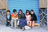 Children on the streets in Banos, Ecuador.