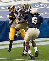 30 September 2006: Pitt defensive back Eric Thatcher (28) makes an interception.  The Pitt Panthers defeated the Toledo Rockets 45-3 on September 30, 2006 at Heinz Field, Pittsburgh, Pennsylvania.