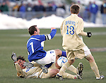 3 December 2006: UCSB's Bryan Byrne (7) is fouled by UCLA's Sean Alvarado (6) in late action. California-Santa Barbara defeated California-Los Angeles 2-1 at Robert R. Hermann Stadium in St. Louis, Missouri in the NCAA men's college soccer tournament final game to win the 2006 NCAA Championship.