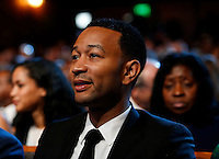 Singer John Legend attends a performance at the Kennedy Center called &quot;Taking the Stage; African American Music and Stories that Changed America,&quot;  an event celebrating the opening of the Smithsonian National Museum of African American History and Culture, September 23, 2016, Washington, DC. US President Barack Obama and First Lady Michelle Obama (unseen) also attend the event.<br /> Credit: Aude Guerrucci / Pool via CNP /MediaPunch