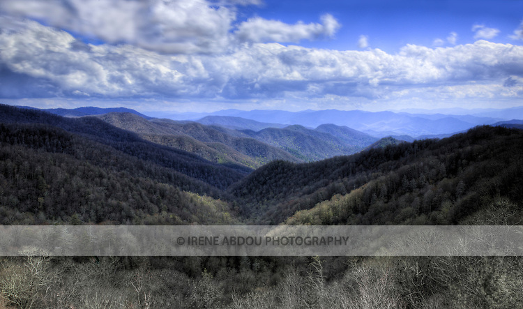 High dynamic range image of a view of the Great Smoky Mountains National Park, Tennessee