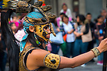 Mexico, Mexico City, Aztec Dancer, Headdress, Penachos, Danza Azteca<br />