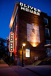 Brewery restaurant in Toledo, Ohio at dusk part of the Oliver House Complex.