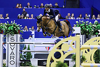 OMAHA, NEBRASKA - MAR 30: Steve Guerdat rides Bianca during the FEI World Cup Jumping Final II at the CenturyLink Center on March 31, 2017 in Omaha, Nebraska. (Photo by Taylor Pence/Eclipse Sportswire/Getty Images)