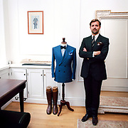 Chaps - Retro socializing in London. 2009. Patrick Grant at Norton & Sons of Savile Row. Top London tailor.